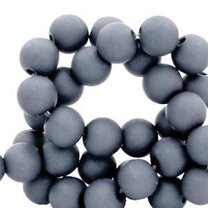 Acryl kralen 6mm concrete grey, 10 gram