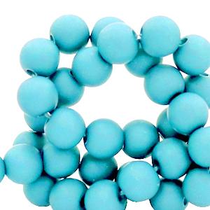 Acryl kralen 6mm aquamarine blue, 10 gram