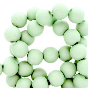 Acryl kralen 6mm soft mint, 10 gram