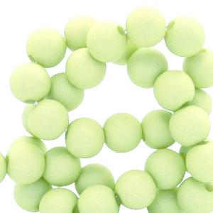 Acryl kralen 6mm lime green, 10 gram