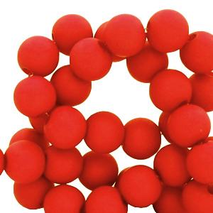 Acryl kralen 4mm candy red, 5 gram