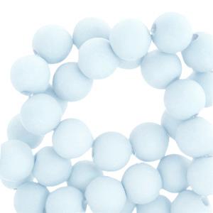 Acryl kralen 8mm matt light blue, per 10 gram