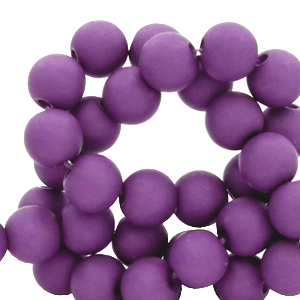 Acryl kralen 8mm matt imperial purple, per 10 gram