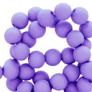 Acryl kralen 8mm matt ultra violet, per 10 gram