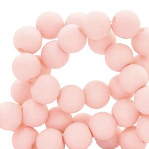 Acryl kralen 8mm matt misty pink, per 10 gram