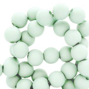 Acryl kralen 8mm matt paled turquoise, per 10 gram