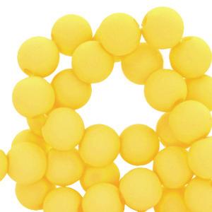 Acryl kralen 8mm matt blazing yellow, per 10 gram