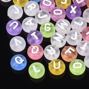 Letterkralen acryl transparant mat, set ca 500 stuks