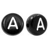 Letterkralen acryl zwart, set ca 500 stuks