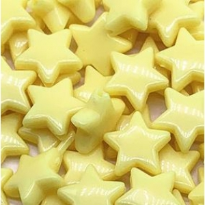 Acryl kralen ster yellow, per 5 stuks
