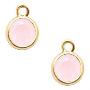 DQ hanger kristal glas rose opal gold