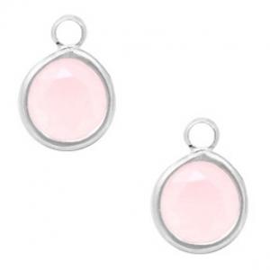 DQ hanger kristal glas rose opal silver