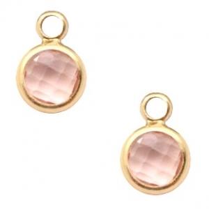DQ hanger kristal glas vintage pink gold