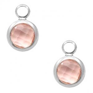 DQ hanger kristal glas vintage pink silver