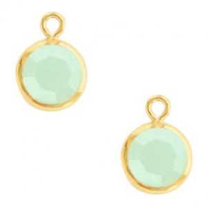 DQ hanger kristal glas gold opal green