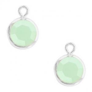 DQ hanger kristal glas silver opal green