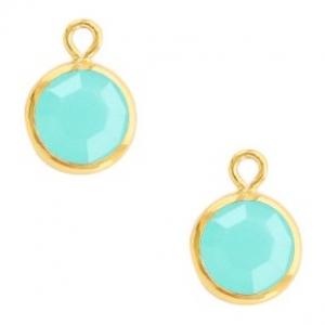 DQ hanger kristal glas gold caribbean blue
