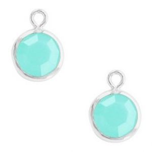 DQ hanger kristal glas silver caribbean blue