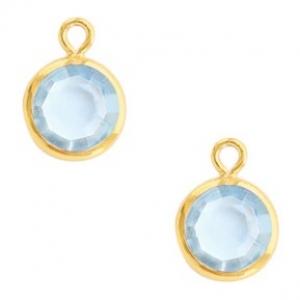 DQ hanger kristal glas gold light sapphire