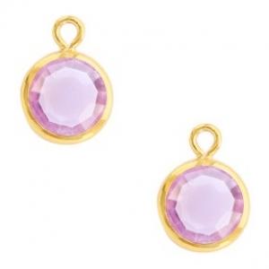 DQ hanger kristal glas gold violet purple