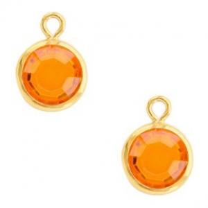 DQ hanger kristal glas gold sun orange