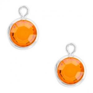 DQ hanger kristal glas silver sun orange