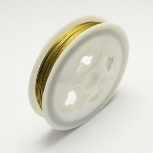 Gecoat metaaldraad 0.38mm goud, rol 50 meter