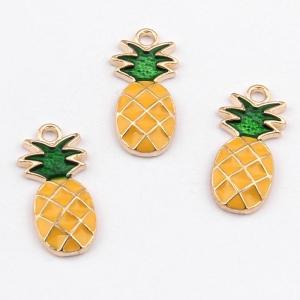 Emaille bedel ananas, per stuk