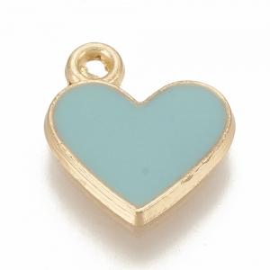 Emaille bedel hart blauw, per stuk