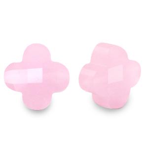 Fashion facet klaver azalea pink, per stuk