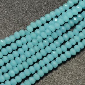 Facet kralen 3x2mm sky blue, 50 stuks