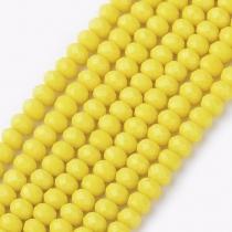 Facet kralen 3x2mm yellow, 50 stuks