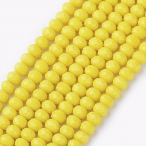 Facet kralen 3x2mm yellow, 50 stuks
