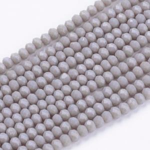 Facet kralen 3x2mm dark gray, 50 stuks