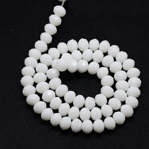 Facet kralen 3x2mm white, 50 stuks