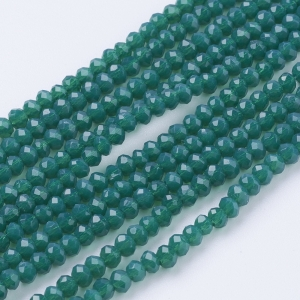 Facet kralen 3x2mm sea green, 50 stuks
