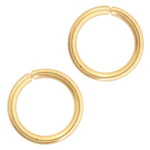 RVS buigringen 4mm 0.5mm goud, 10 stuks
