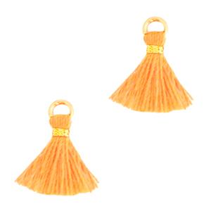 Kwastje 1cm gold paradise orange