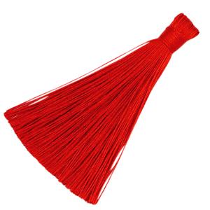 Kwastje 8cm fiery red