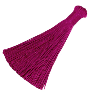 Kwastje 8cm cherry pink