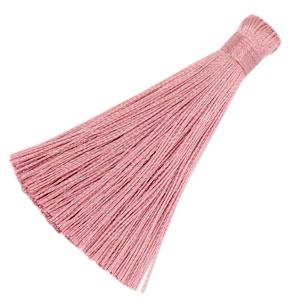 Kwastje 8cm seashell pink
