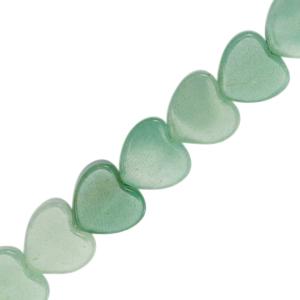 Natuursteen kralen soft turquoise green, per stuk