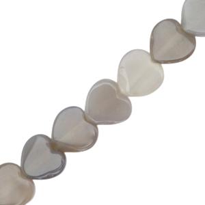 Natuursteen kralen hart grey opal, per stuk