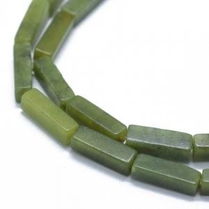Natuursteen kralen tubes jade, per stuk