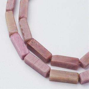 Natuursteen kralen tubes rhodochrosite, per stuk