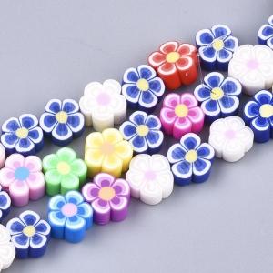 Polymeer kralen bloem, 5 stuks