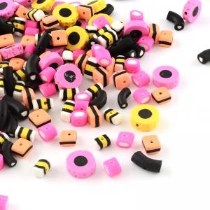 Polymeer kralen Engelse drop, 5 stuks
