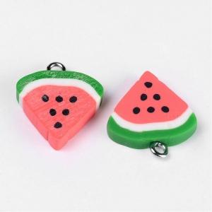 Polymeer bedel watermeloen, 5 stuks