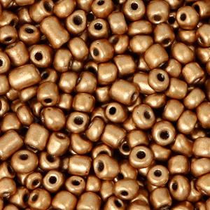 Rocailles 3mm rose gold metallic, 15 gram