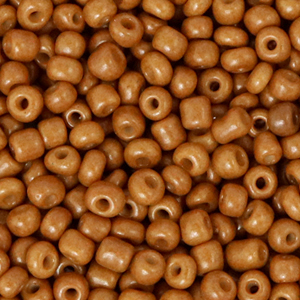 Rocailles 3mm sugar almond brown, 15 gram